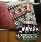 Nordic Deer Throw Blanket