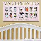 Personalized Baby's First 12 Months Frame