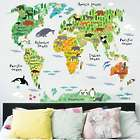 World Map & World Animal Stickers