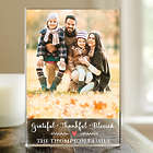 Custom Photo Grateful, Thankful, Blessed Acrylic Plaque