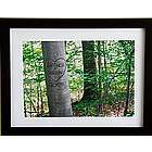 Personalized Summer Love Tree Framed Print