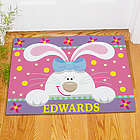 Personalized Cheery Easter Bunny Welcome Doormat