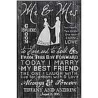 Personalized Mr. and Mrs. Wedding Plaque