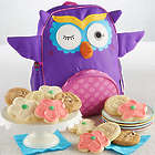 Girl's Owl Backpack and Cookies