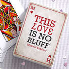 Personalized Romantic Playing Cards