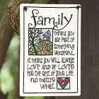 Family Ceramic Garden Sign