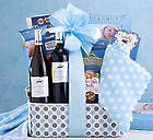 Red and White Wine Baby Boy Gift Basket