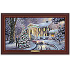 Christmas At Elvis Presley's Graceland Home Lighted Canvas Print