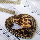 Wild at Heart Leopard Print Necklace