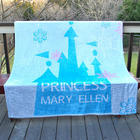 Personalized Fleece Princess Throw