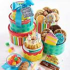 Birthday Cake and Cookies Gift Tower