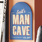 Personalized Arch Top Man Cave Sign