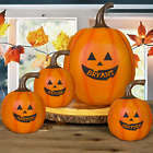 Personalized Jack-O-Lantern Pumpkin Doorstep Decoration