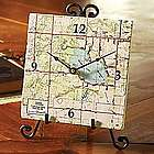My Town US Topographical Map Clock