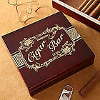 Cigar Bar Personalized Cherry Wood Cigar Humidor