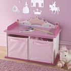 Personalized Princess Bench and Storage Cabinets