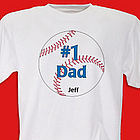 #1 Baseball Fan Personalized Adult T-Shirt