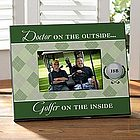Golfer on the Inside Personalized Frame