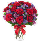 True Colors of the Heart 12 Red Rose Bouquet
