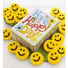Have a Happy Day Gift Tin with Smiley Face Cookies