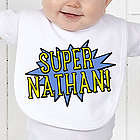 Personalized Super Hero Baby Bib