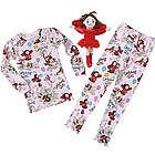 Ladybug Girl's Pajamas and Plush Gift Set