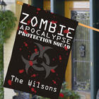 Personalized Zombie Apocalypse House Flag
