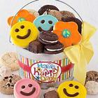 Happy Face Cookies and Treats Gift Pail