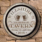 Personalized Ales and Tales Neighborhood Tavern Sign