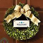 "16"" Personalized Seasons Myrtle Leaf Wreath"