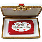 Happy Valentine's Day Limoges Gift Box with Red Bow