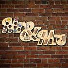 Mr. & Mrs. Wine Cork and Beer Cap Map