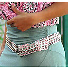 Pink Chain Mail Soda Pop-top Belt