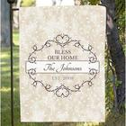 Personalized Bless Our Home Garden Flag