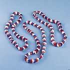 Patriotic Tri-Color Poly Leis