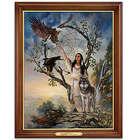 Native Dreams Illuminating Framed Canvas Art Print