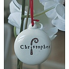 Hand Painted Ceramic Christmas Ornament