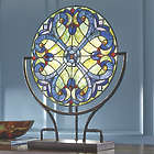 Halston Round Stained Glass Lit Panel