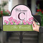 Personalized Spring Tulip Decorative Yard Stake Magnet