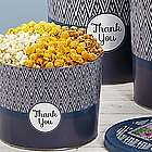 Simply Stated Thank You 2 Gallon Popcorn Tin