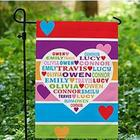 Personalized Hearts Full of Love Garden Flag