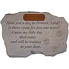 Have You a Dog in Heaven, Lord? Pet Memorial Stone