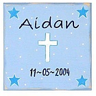 Personalized Blue Cross Wall Art