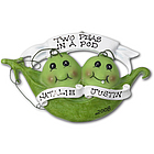 Personalized Two Baby Peas in a Pod Ornament