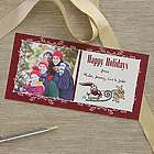 Personalized Santa and Reindeer Photo Postcards