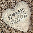 Engraved Family Heart Garden Stone