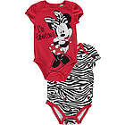 Minnie Mouse Baby Girl's Zebra Minnie Bodysuits