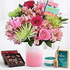Ultimate All the Frills for Mom Bouquet with Chocolates & Spa Set