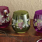 4 Piece Assorted Grape Vineyard Stemless Drinkware Set