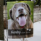 Pet Photo Memorial Garden Flag
